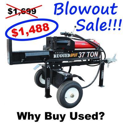 Log Splitter For Sale >> 37 Ton Log Splitter